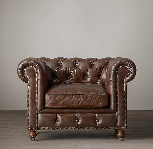 Petite Kensington Leather Chair