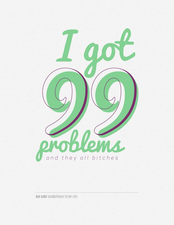 I Got  Problems And They All Kid Cudi Lyrics