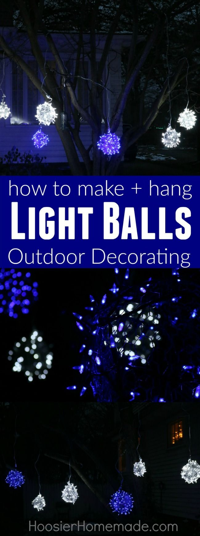 how to make christmas light balls holiday inspiration - Outdoor Christmas Lights Decorations