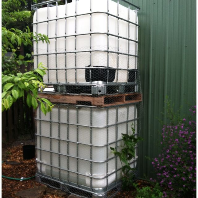 My Stacked Tote Rain Collection Tower It Can Collect And Hold Up To 500 Gallons Of Water Rain Water Collection Rain Water Collection System Rain Barrel