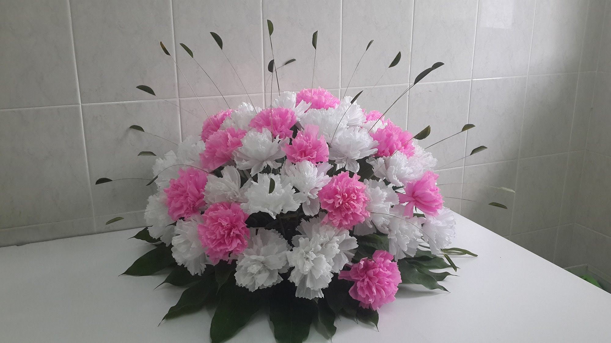 Wedding decor paper carnation flower arrangement carnation wedding decor paper carnation flower arrangement mightylinksfo