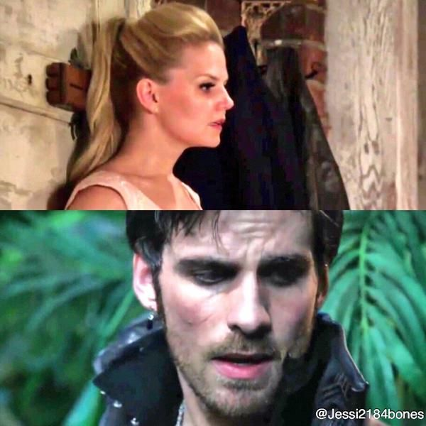 Emma's reaction after their first date. Hook's reaction after their first kiss. <3