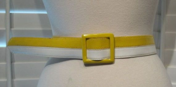 Vintage Yellow and White Striped Adjustable by GoodBuyForNow