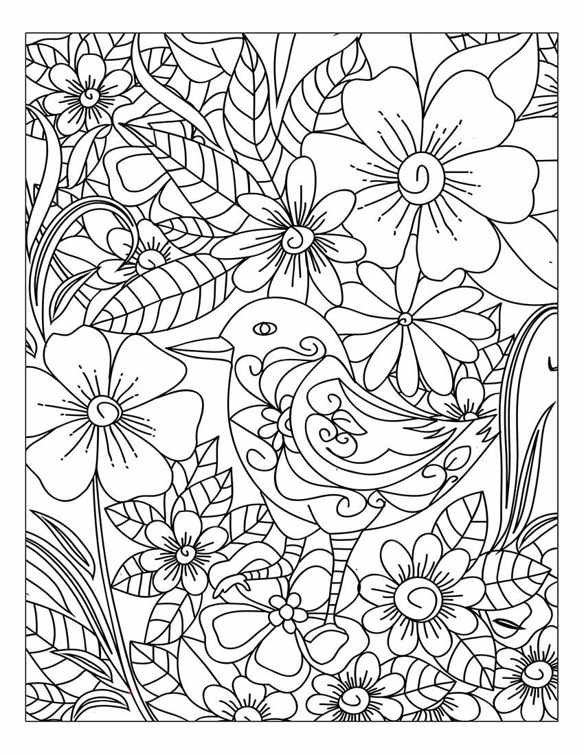 Pin On Adult Coloring Books Stress Relief Flower And Nature Pattern