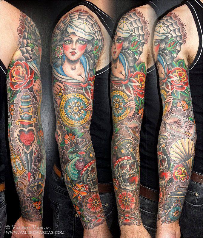 Valerie Vargas Tattoo   Nautical tattoo sleeve ...