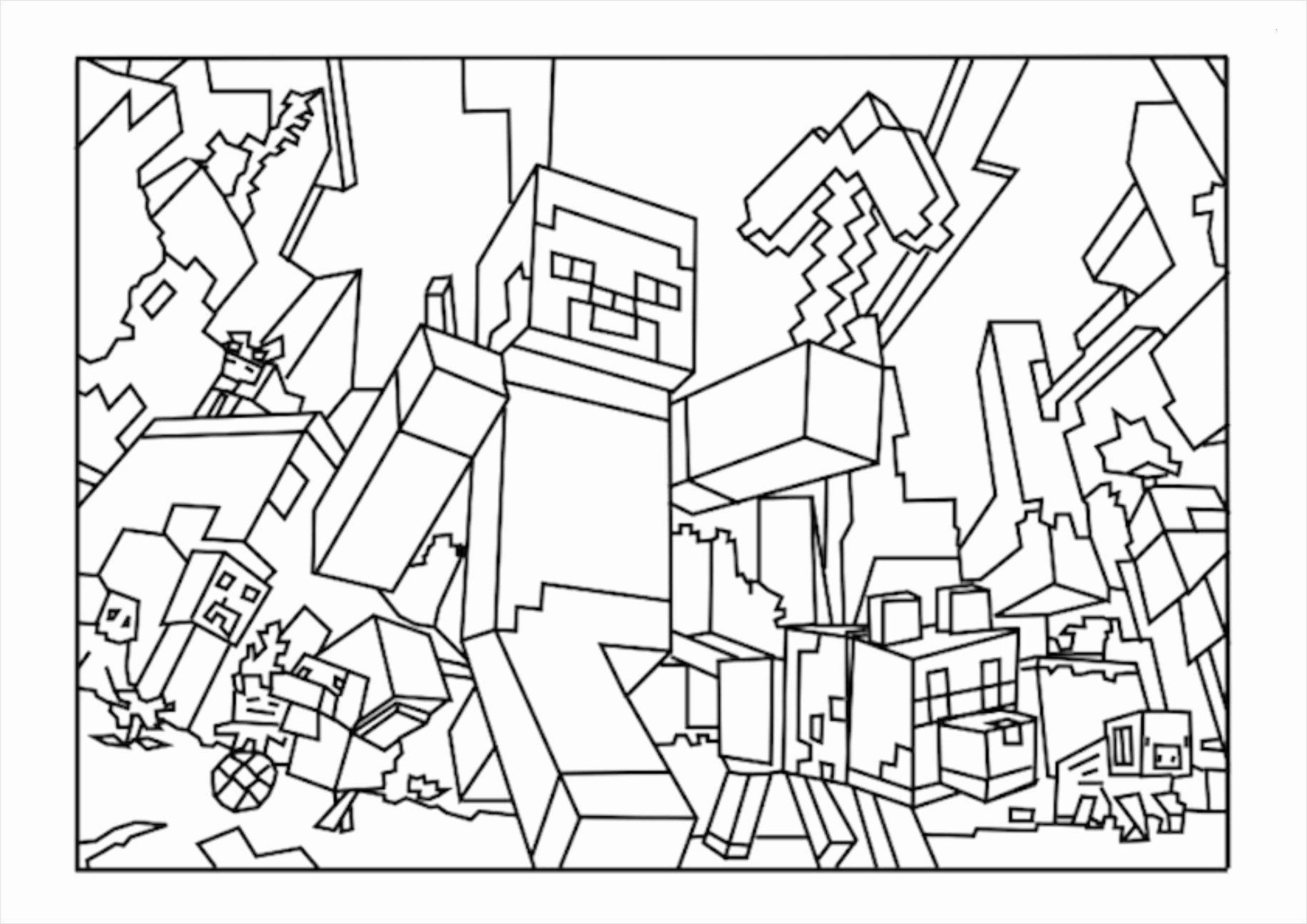 Ausmalbilder Minecraft Windowcolor ausmalen e27