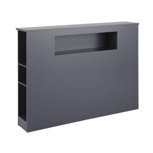 t te de lit grise l 140 cm t tes de lit en bois bois gris et lit en bois. Black Bedroom Furniture Sets. Home Design Ideas