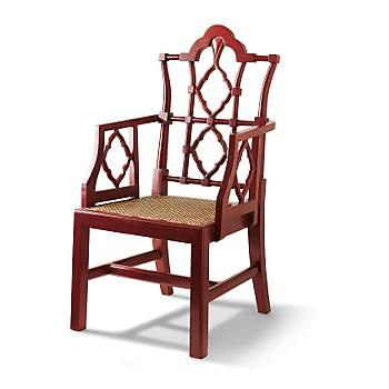 Red Openwork Chair   Asian   Dining Chairs And Benches   Gumps San Francisco