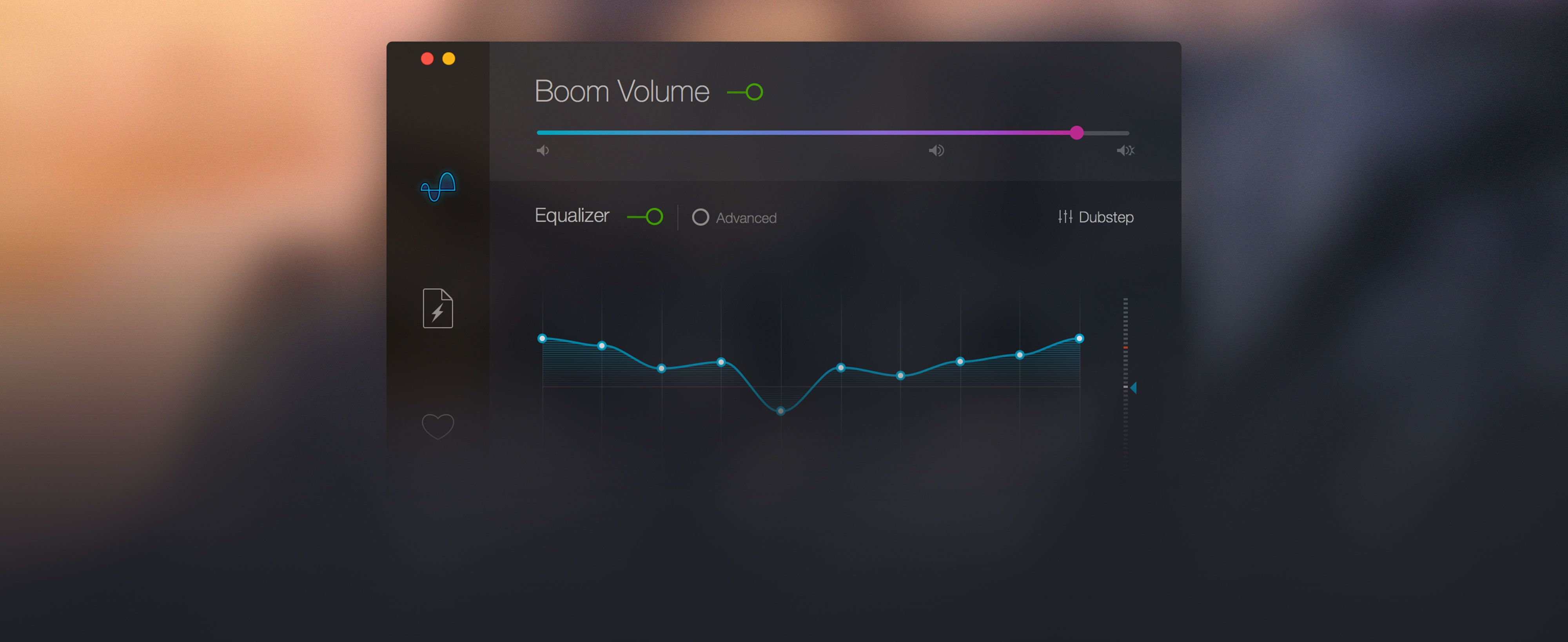 Boom 2 Mac volume booster interface