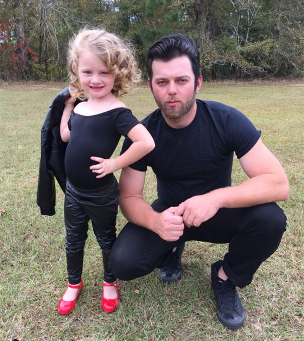 Grease Costume  sc 1 st  Pinterest & 13+ Dads u0026 Daughters Who Won Halloween Together | Grease costumes ...