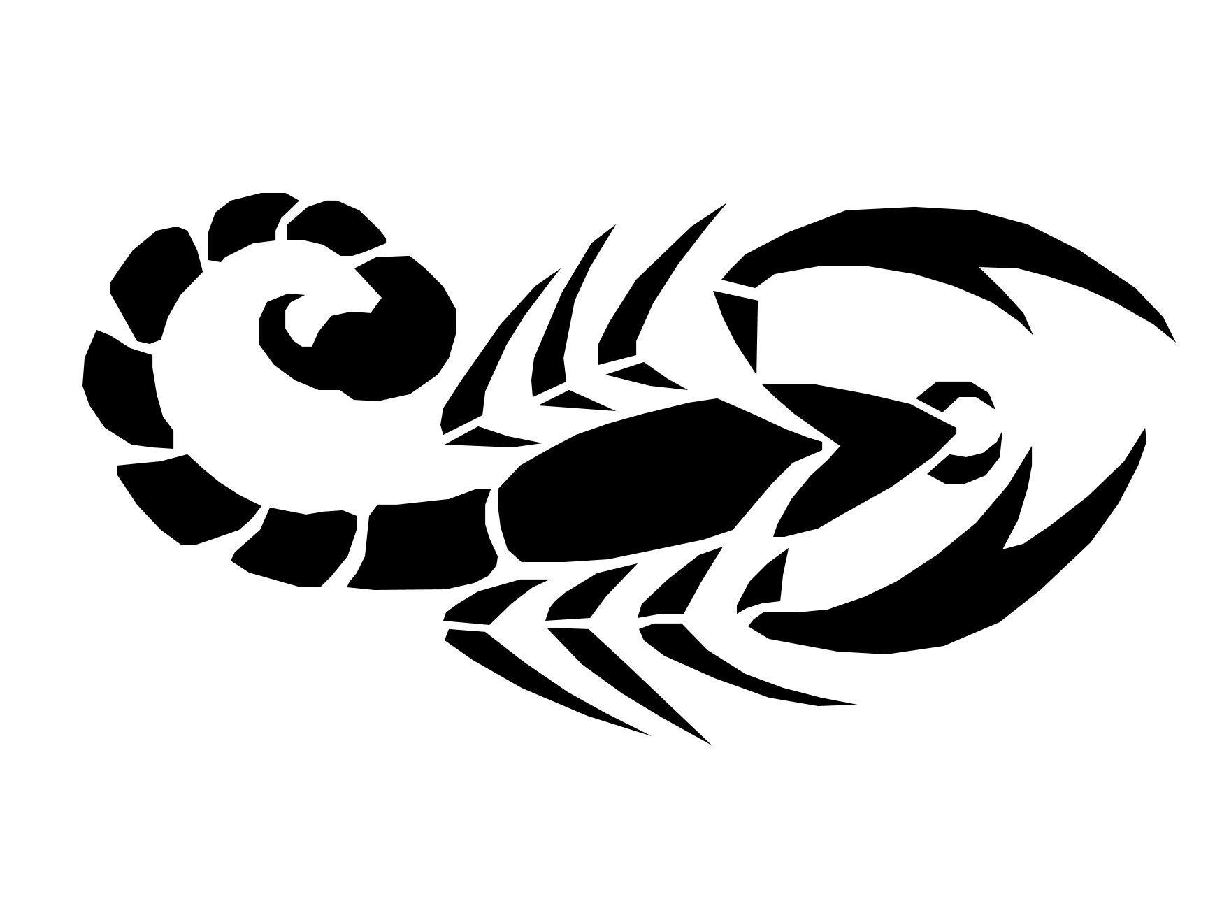 картинки черно белые тату скорпиона внезапного