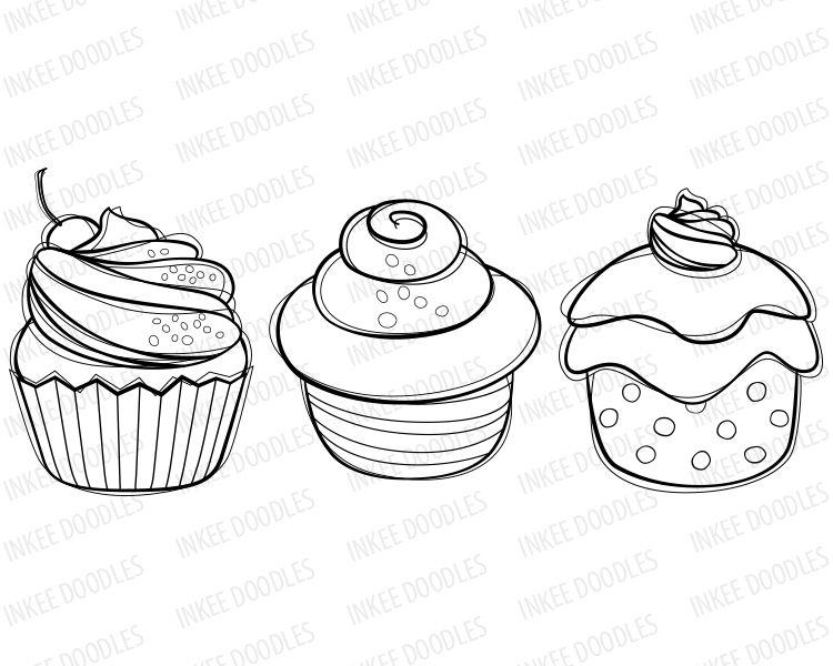 Cupcake Clip Art - candy cherry sweet chocolate cream ...