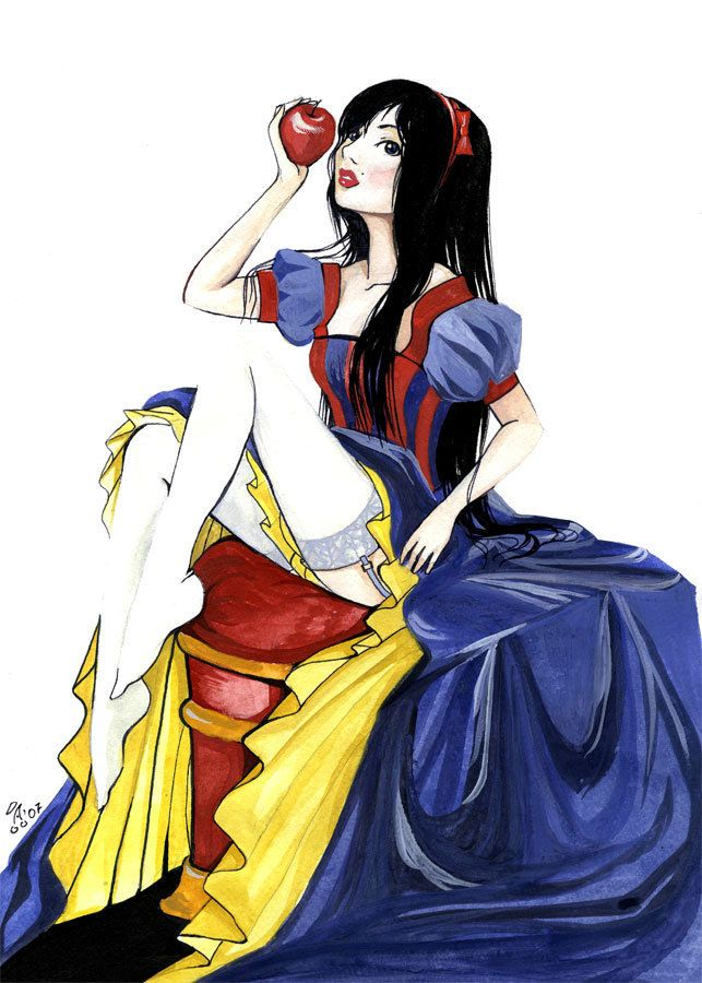 Sexy snow white drawing