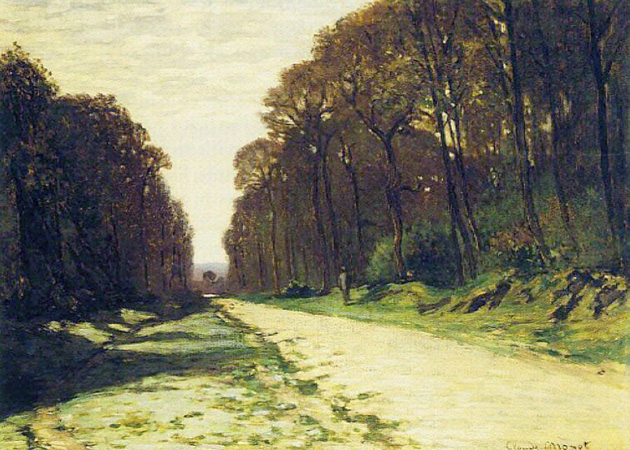 Road in a Forest Fontainebleau, 1864 Claude Monet