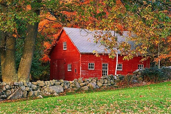New England Barns New England Old Weathered Red Barn