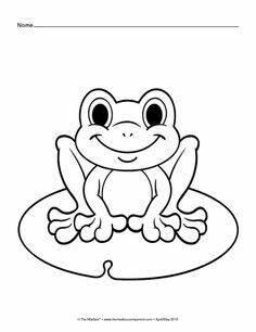 Frog coloring page | August | Pinterest | Frogs, Embroidery and ...