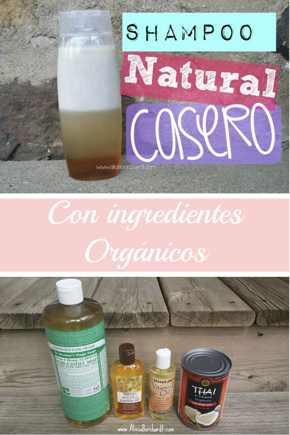 Sabías Lo Fácil De Hacer Shampoo Orgánico Y Natural En Casa Champú Natural Champú Casero Champu