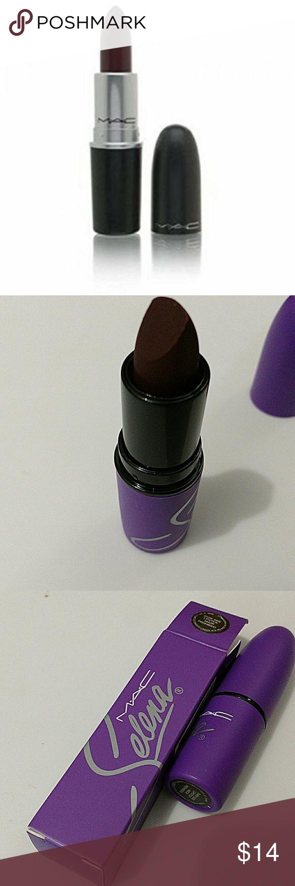 Selena lipstick color dark side Made in Canada. MAC