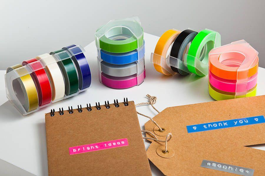 Motex 80s Style Embossing Label Maker Label Maker Tape
