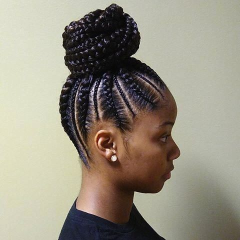 Braided Hairstyle For Black Woman Book With Our Braider Stylist Sabrathia To Get This Braid Natural Hair Styles Braided Ponytail Hairstyles Cornrow Ponytail
