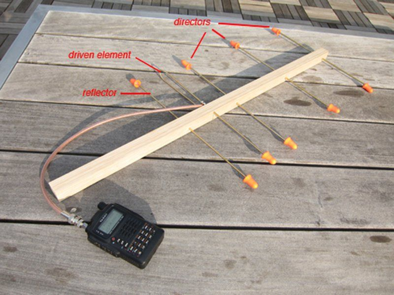 Cheap satellite amateur antenna