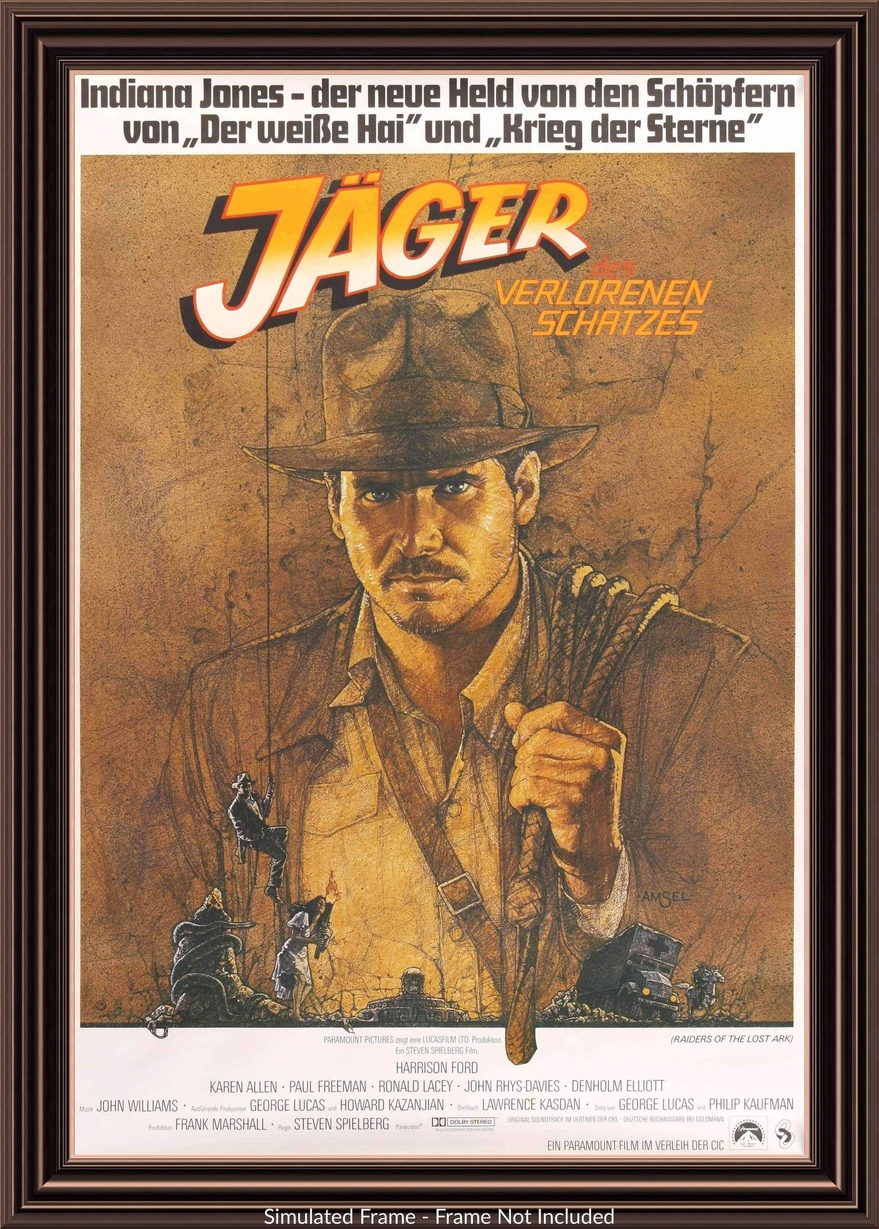 Raiders Of The Lost Ark 1981 In 2021 Indiana Jones Harrison Ford Movie Posters Vintage