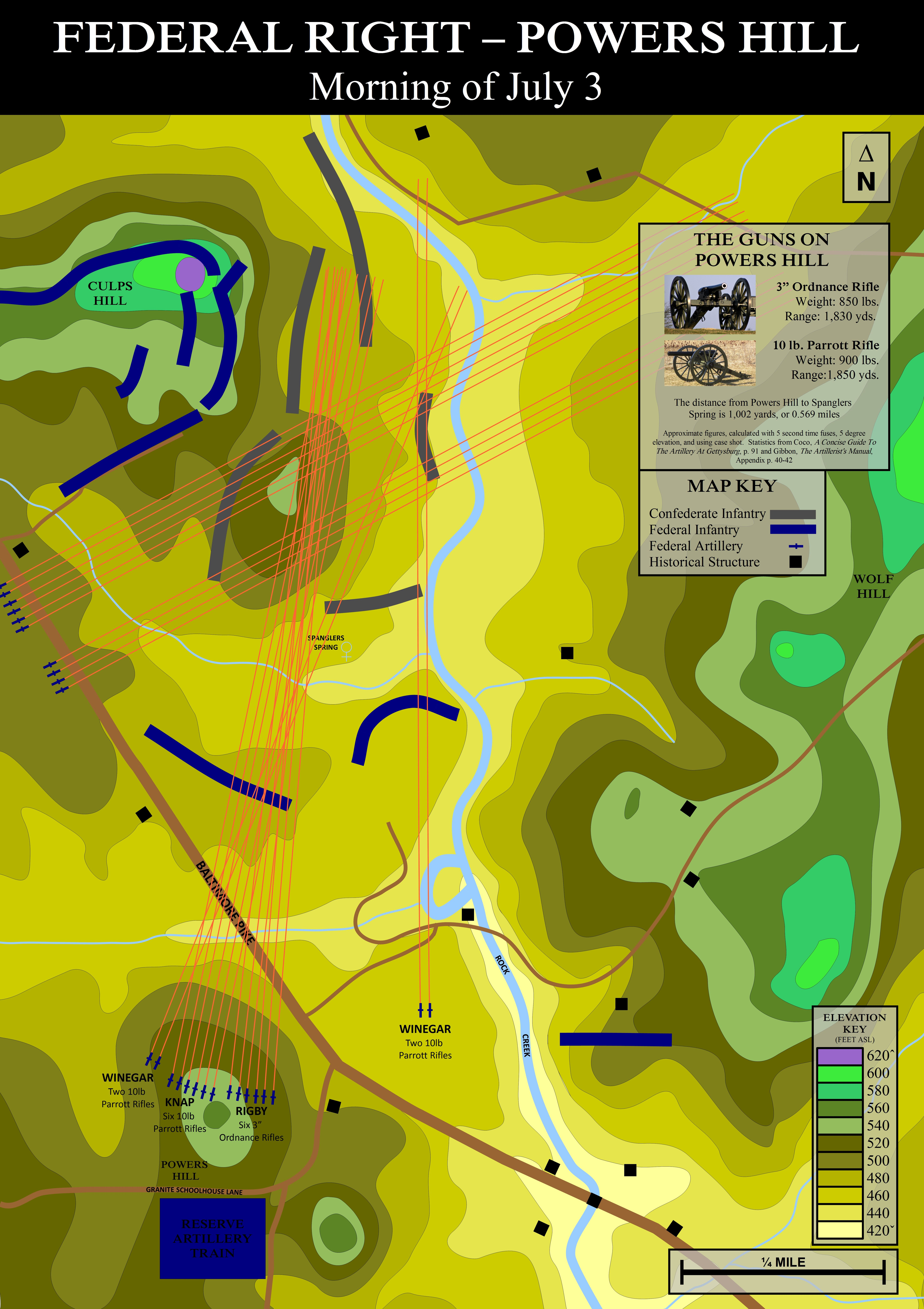 Gettysburg Topographic Map.Britt Draws The Battle Using Topographic Maps And Adding Details For