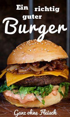 Vegetarischer Burger  Unser Rezept für einen vegetarischen Burger mit einem Patty aus schwarzen Bohnen.  #Burger #vegetarischer