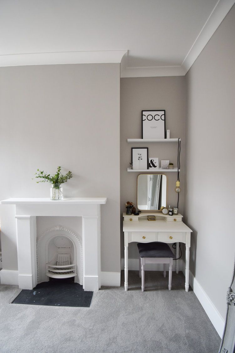 Our Clutter Less Studio Dressing Room Makeover Grey Carpet Living Room Dark Grey Carpet Living Room Grey Walls And Carpet