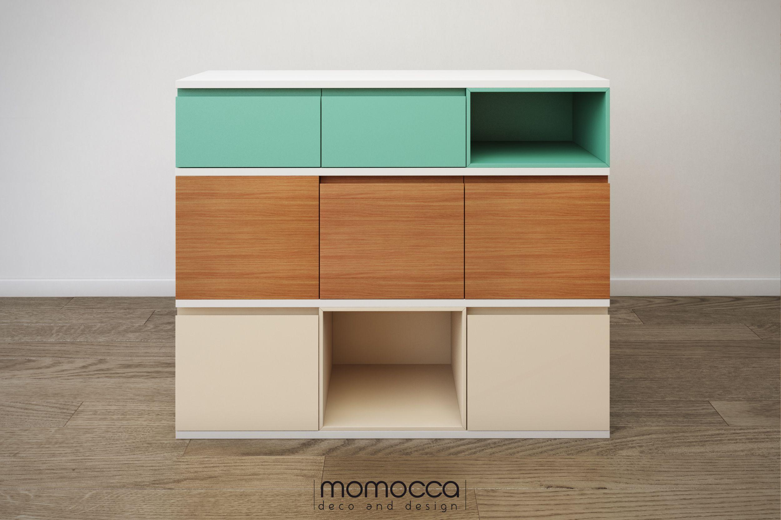 Colecci N Carlota Aparador Carlota Combina Diferentes Colores Y  # Muebles Diferentes