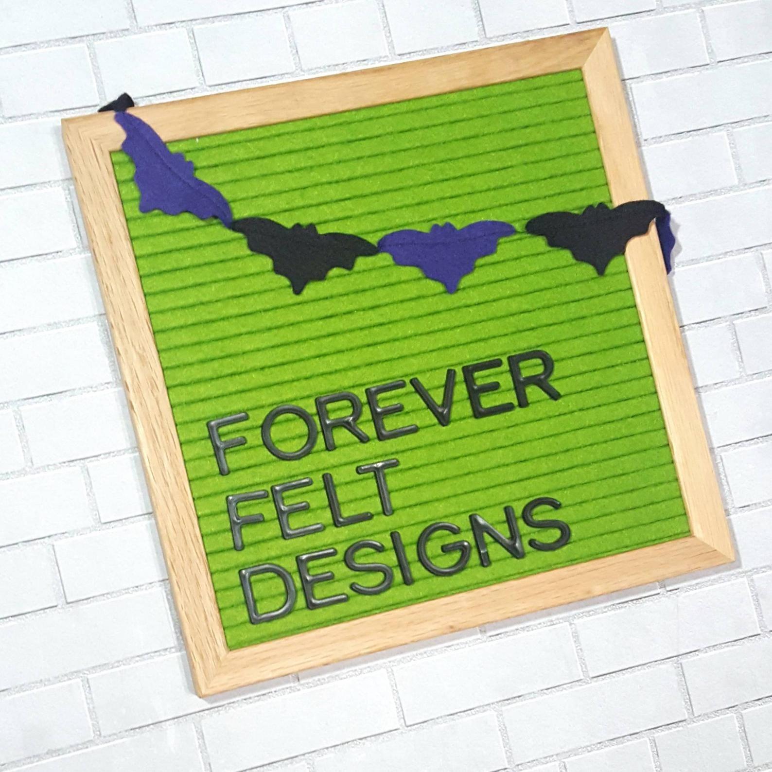 Letterboard garland, Halloween garland, letterboard