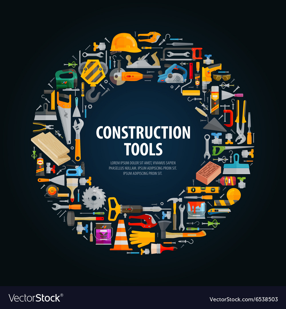 Repair and construction logo design vector image on (с
