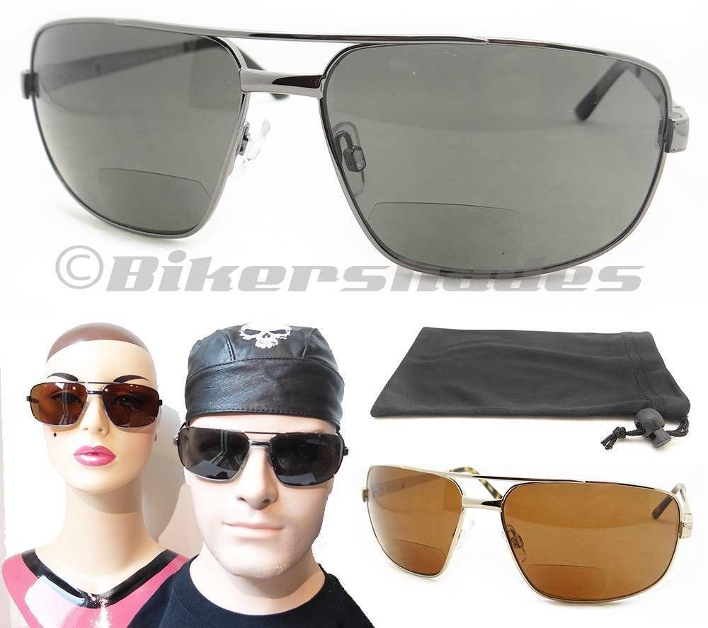 0ad6f57116 Square Aviator Polarized Bifocal Reading Sunglasses Men 1.50