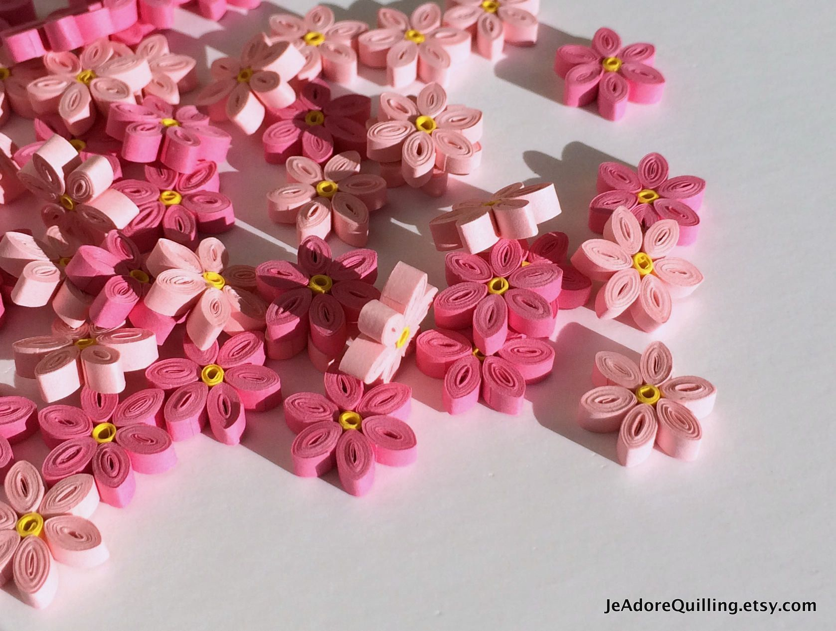 Flowers Pink Forget Me Not Table Confetti Dinner Party Ornaments