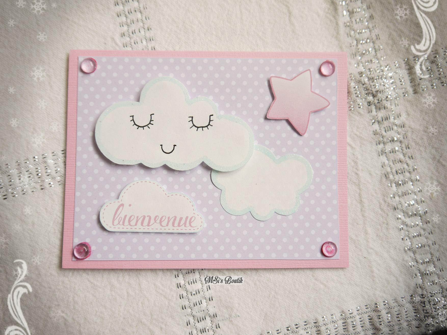 carte de voeux naissance Carte de Voeux pour naissance fille, inspiration Pinterest :) By