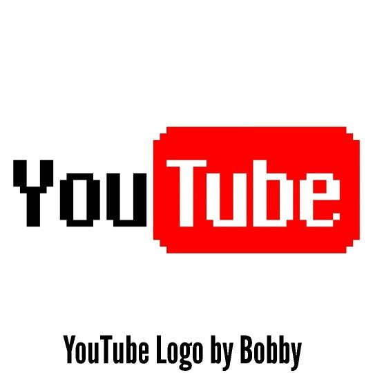 Youtube logo pixel art
