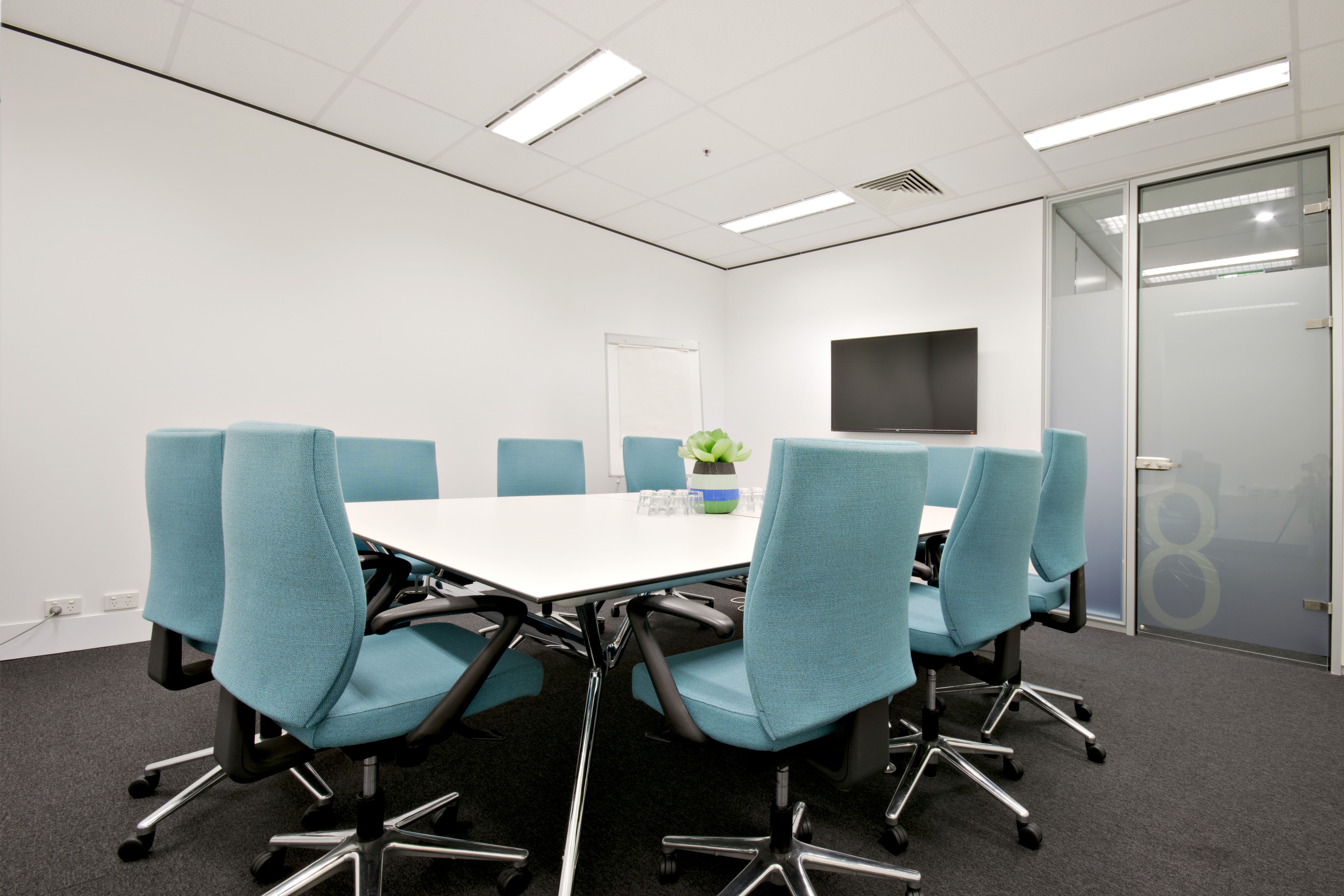 Meeting Room 8 Can Seat Up To 10 People Boardroom With LCD