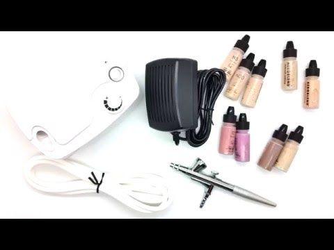 aeroblend personal airbrush makeup starter kit  youtube
