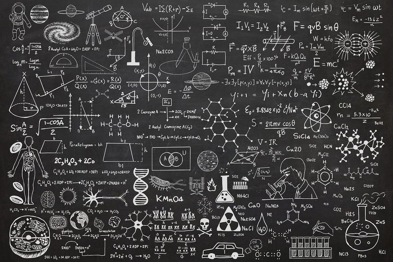 Scientific Chalkboard Wall Mural Custom Made To Suit Your Wall Size By The Uk S No 1 For Wall Murals Custom Chalkboard Wallpaper Chalkboard Wall Wall Murals