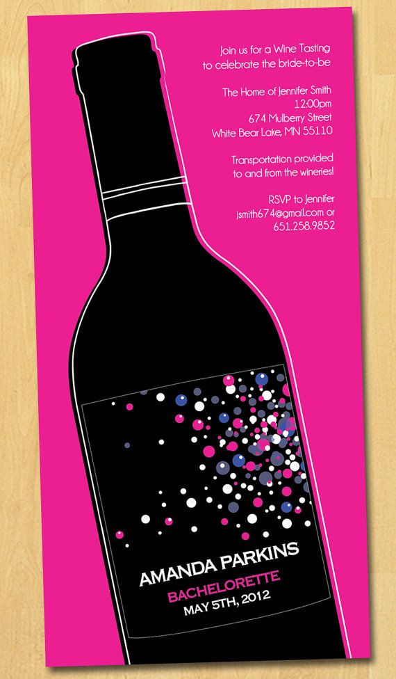 Wine Tasting Bachelorette Party Invitation by thepaperplume ...