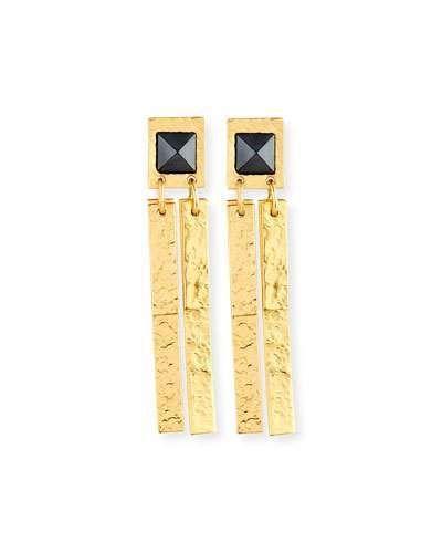 Stephanie Kantis Pyramid Hematite Drop Earrings Drop earrings