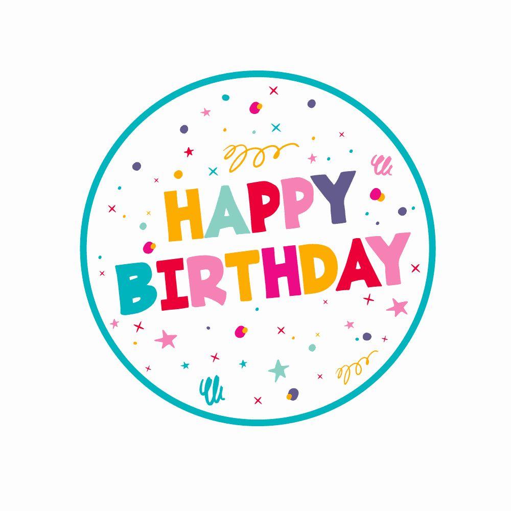 Birthday Cake topper Printable Luxury Happy Birthday