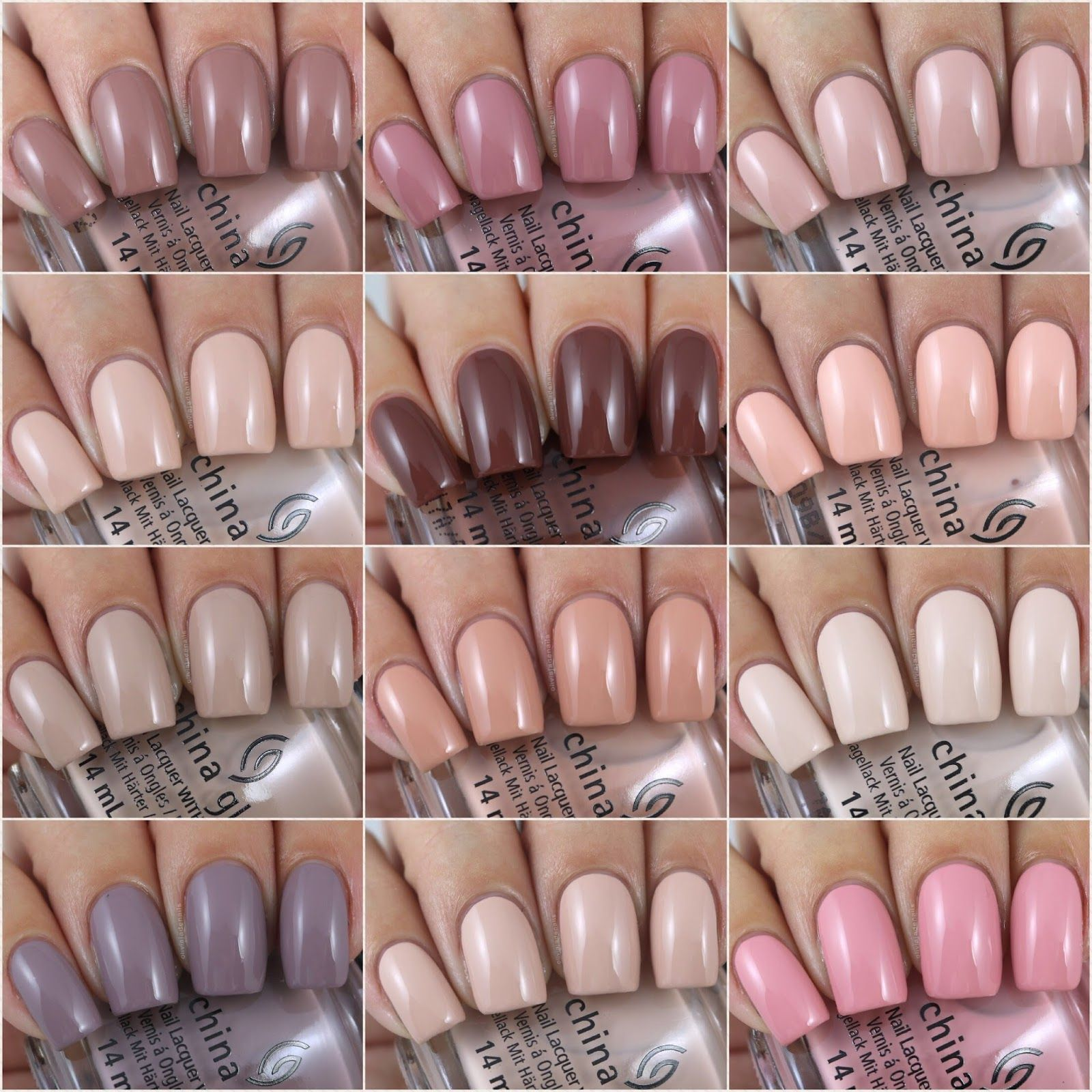 China Glaze Shades Of Nude Collection - Swatches & Review by Olivia ...