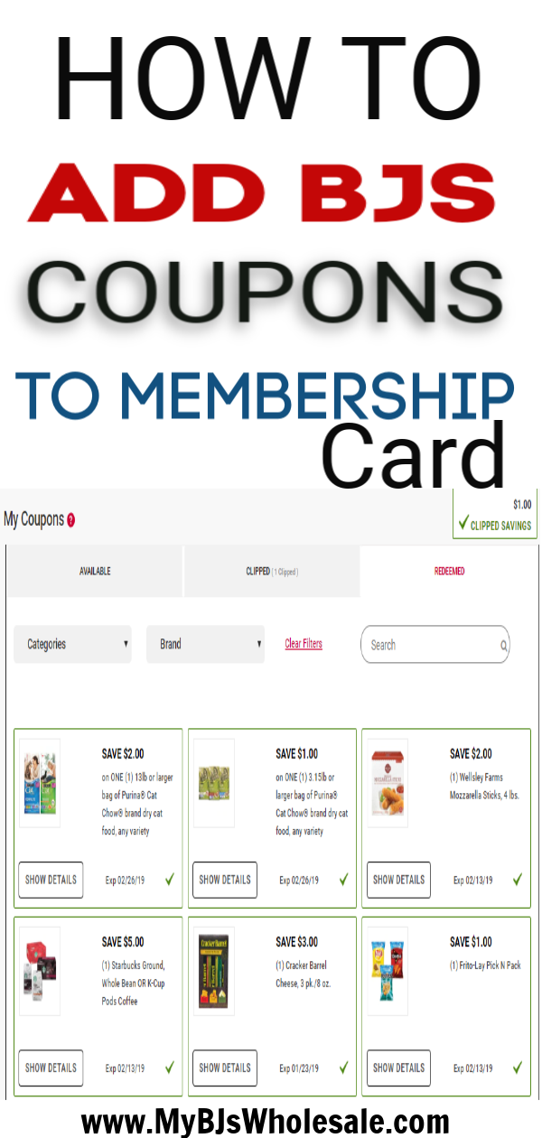 How To Use Bjs Coupons Online In Club My Bjs Wholesale Club Bjs Coupons Digital Coupons Bjs Wholesale