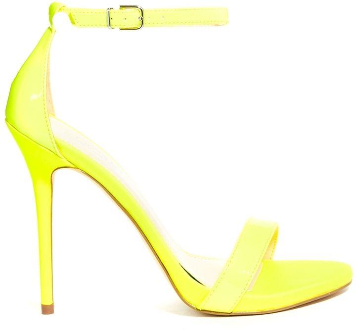 e9a3080e4e5 Carvela Glacier Single Sole Neon Yellow Heeled Sandals on shopstyle ...