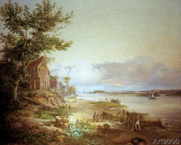 Louis Gurlitt - Papiermühle am Elbstrand bei Neumühlen