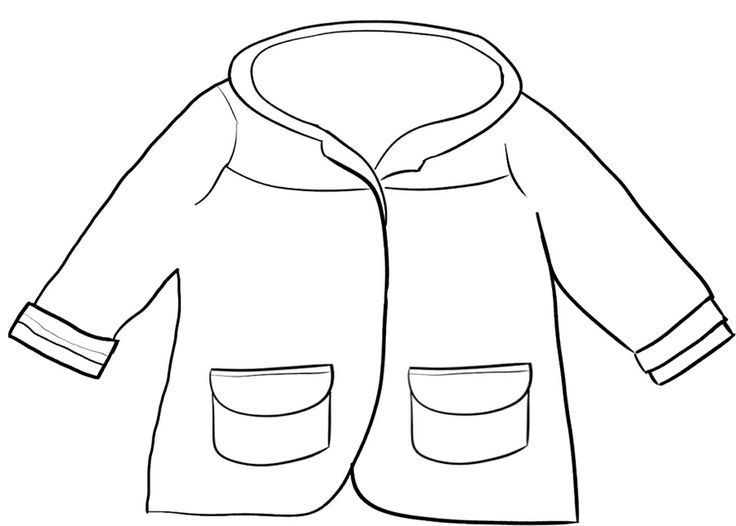 Winter Coat Coloring Page   libro juego   Pinterest