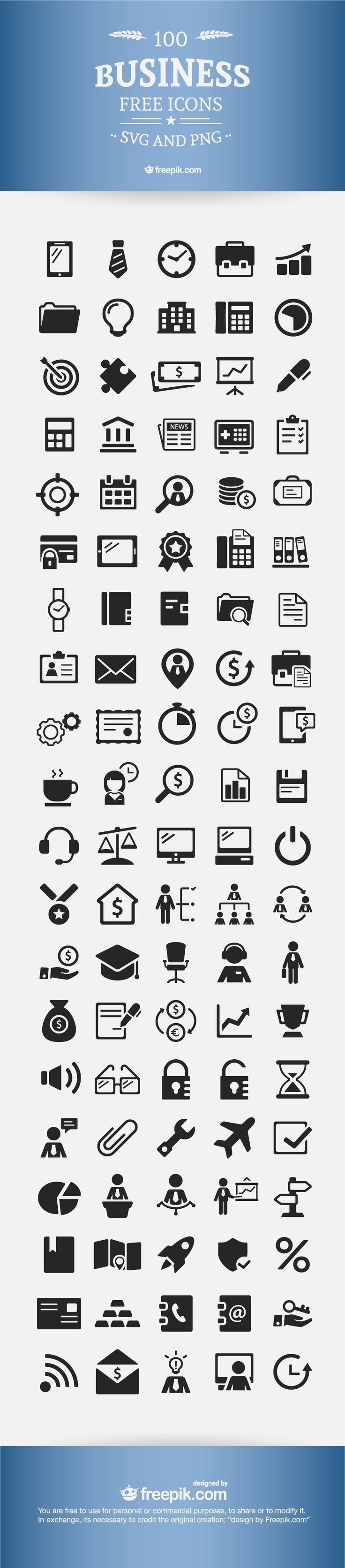 100 free business icons - 100 Free Resume Templates