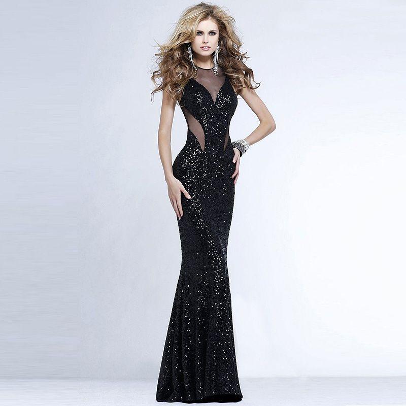 Aliexpress.com: Comprar Elegante lentejuelas negro de noche de ...