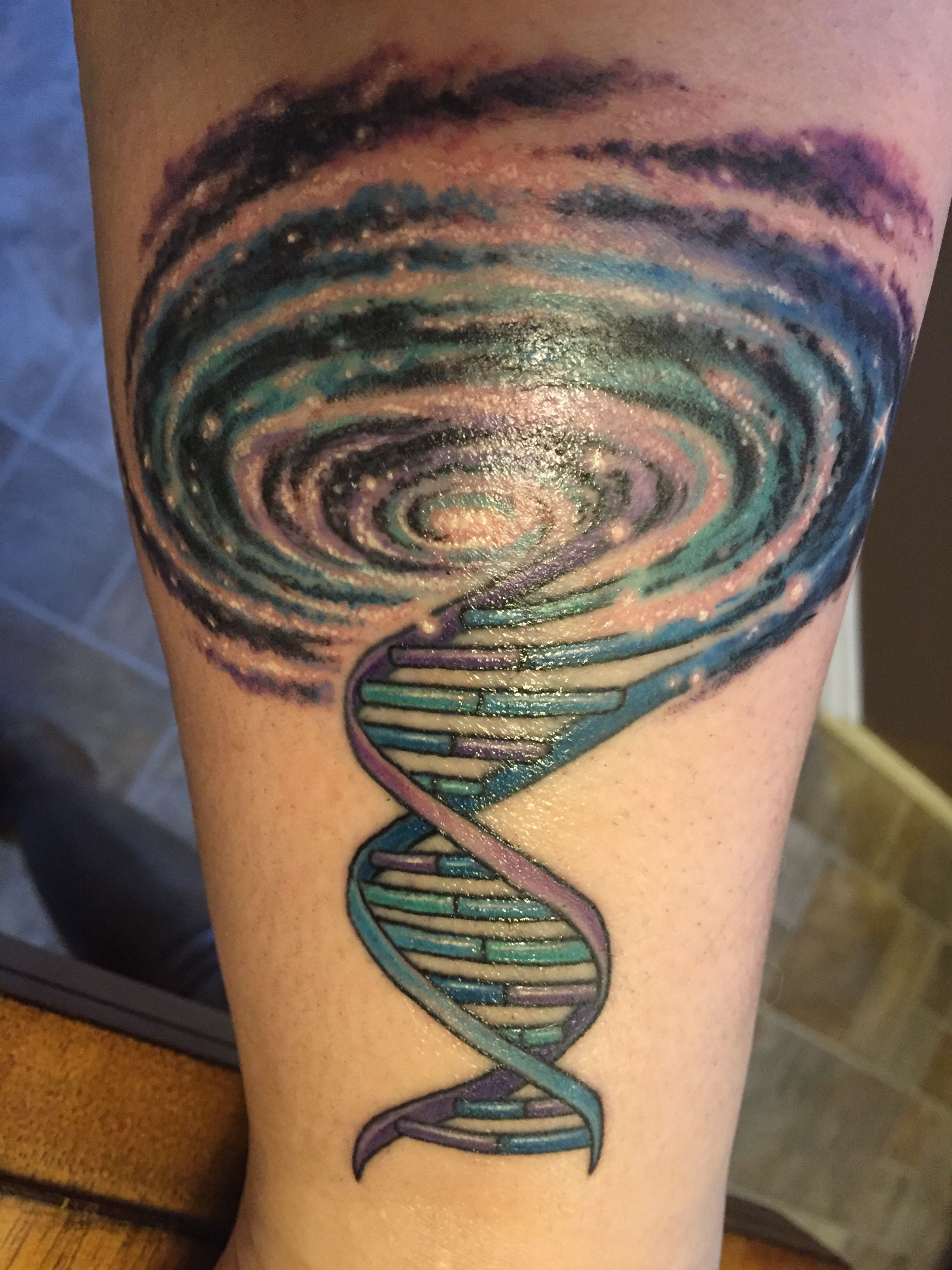 My Dna Galaxy Tattoo Tattoos Arms And Hands Tatto